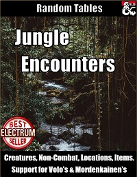 Jungle Encounters - Random Tables on DMs Guild